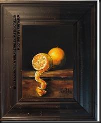 framed peeled lemon