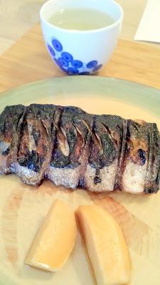 Yurukyara Grand Prix at Nodoguro, a Japanese mascot themed dinner Course 6 Rice bran cured mackerel with citrus and turnip