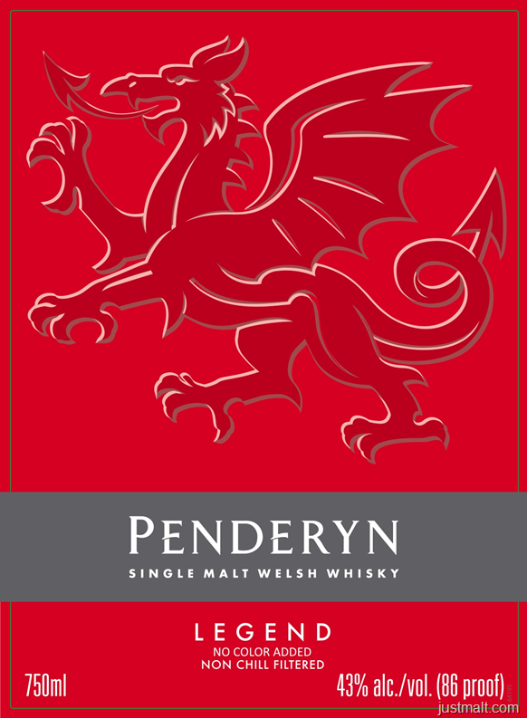 Penderyn Legend Single Malt Welsh Whiskey