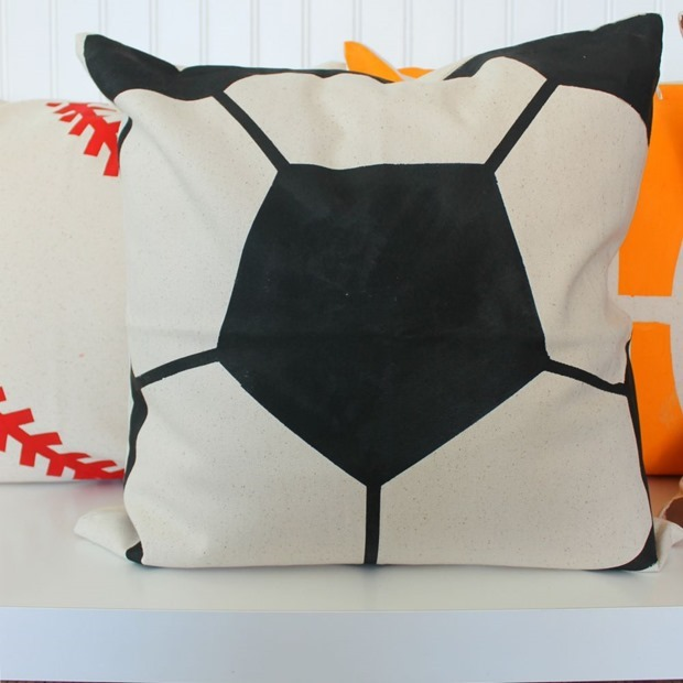 decoart soccer pillow