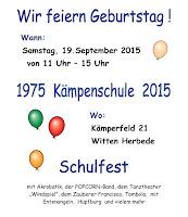 Plakat Schulfest