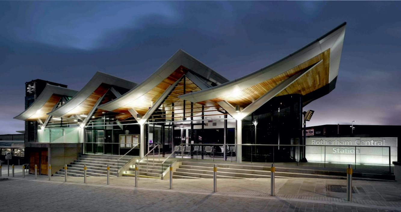 Rotherham, South Yorkshire, Regno Unito: Rotherham Central Station by Aedas
