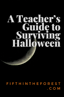 Pinnable image for  A Teacher's Guide to Surviving Halloween