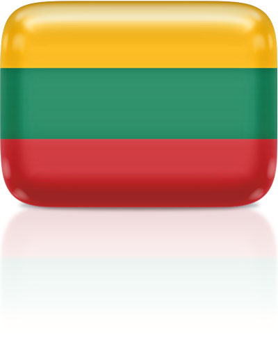 Lithuanian flag clipart rectangular