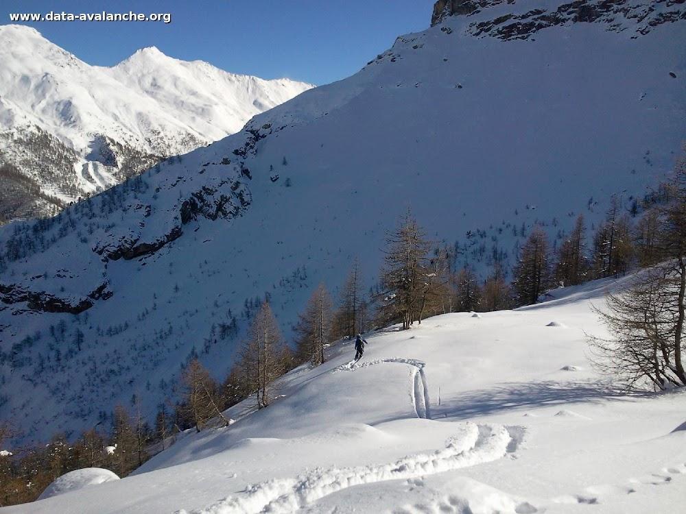 Avalanche Val Troncea, secteur Monte Branchetta, descente sur hameau de Laval et les pistes de ski de fond de pragelato - Photo 1 - © Turin Florent