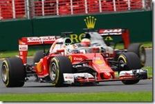 Sebastian Vettel nelle qualifiche del gran premio d'Australia 2016