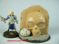 Skull shrine in desert ruins Fantasy war game terrain and scenery - UniversalTerrain.com