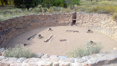 Bandelier National Monument in New Mexico, Kiva, an underground structure that serves as a community center