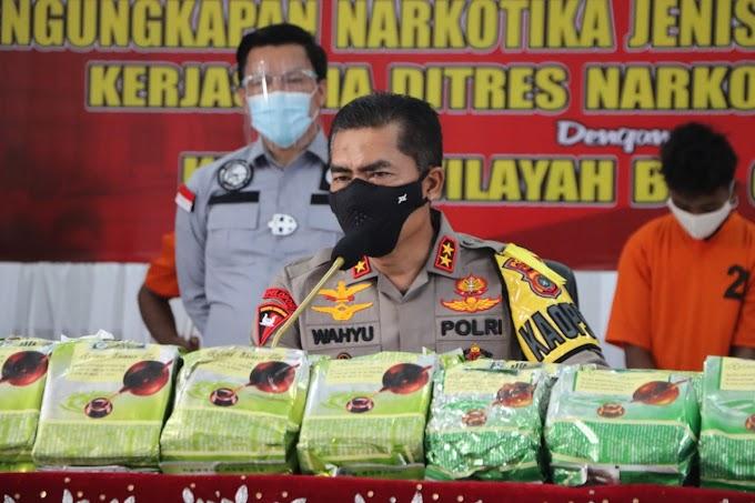 Polda Aceh Gelar Konferensi Pers Pengungkapan  Narkotika Jenis Sabu Seberat 60 Kg