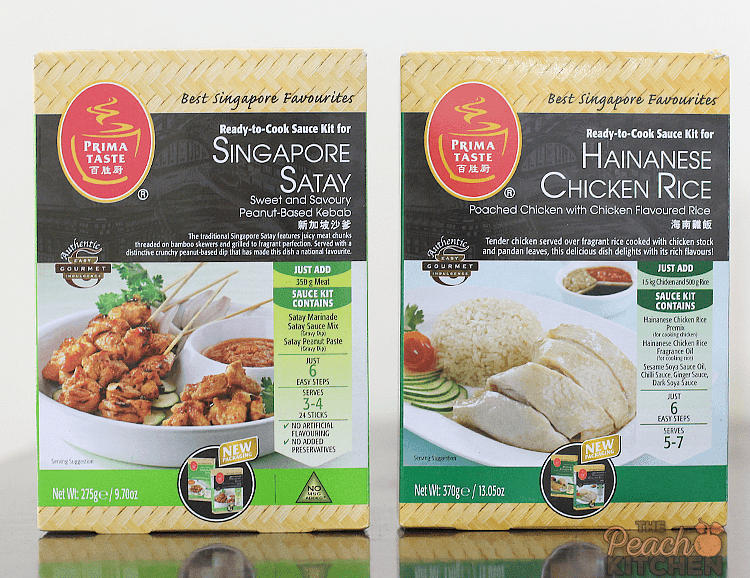 Prima Taste Hainanese Chicken Rice and Singapore Satay Sauce Kit