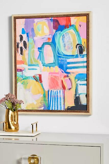 Colorful modern framed print