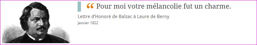 Les Lettres d'Honoré de Balzac