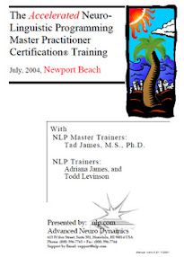 Cover of Tad James's Book Nlp Master Practitioner Manual