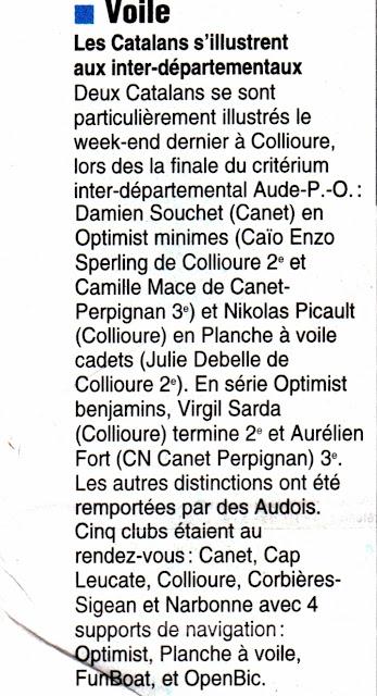 Voile Collioure Critérium Optimist Planche_a_voile Fun_boat Open_bic 2012