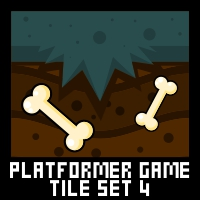 Zombie Platformer Game Tile Set
