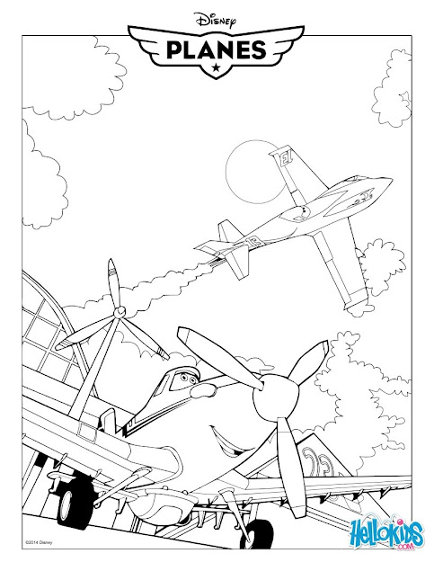Dusty Crophopper  Planes Movie Coloring Page