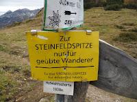 ...eh, tu sam odlučil ispenjati bar na sedlo između Steinfeldspitze i Baerenstaffl...(da iskoristim dan)