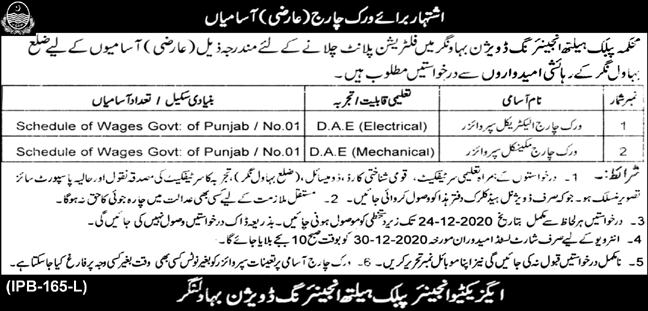 Public Health Engineering Department Jobs 2020 Apply Now