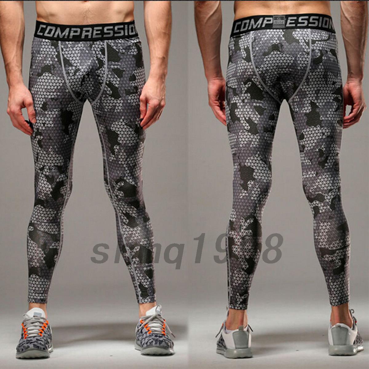 sport de compression pour homme imprim leggings pour automne hiver collant ebay. Black Bedroom Furniture Sets. Home Design Ideas