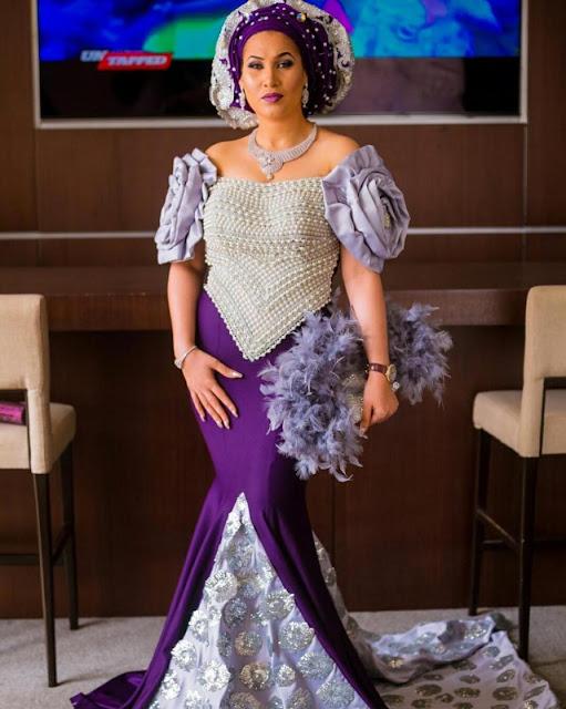 Fans Criticize Caroline Danjuma For Stealing The Show At Oritsefemi's Wedding (photos)
