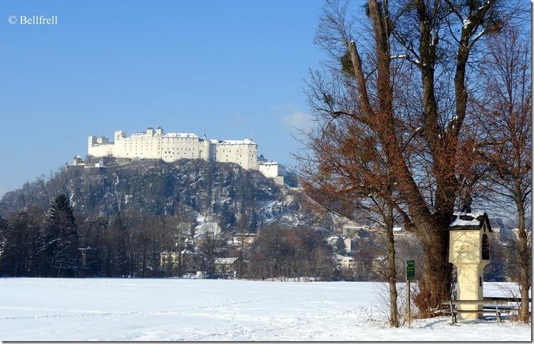 Festung und Marterl Schnee