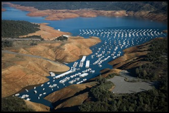 Lake Oroville Low Levels of 2014 and 2015