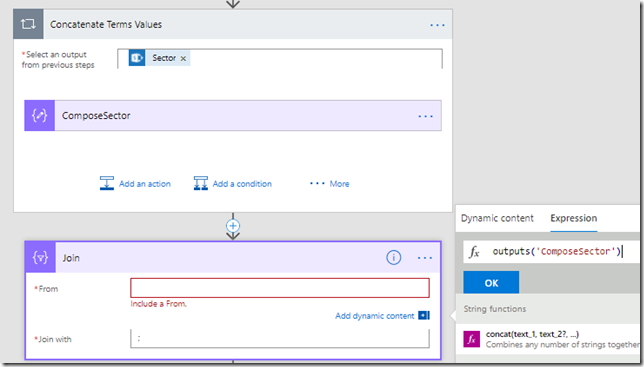 Tech and me: Appending field values into a string in Microsoft Flow