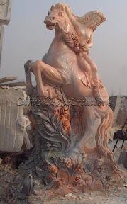 Female, Figure, Horse, Interior, Marble, Statues