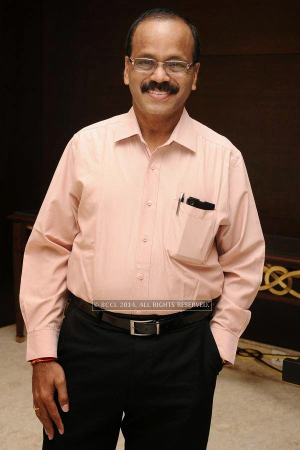 Dhananjayan during the birthday celebration, held at The Leela Palace, in Chennai.