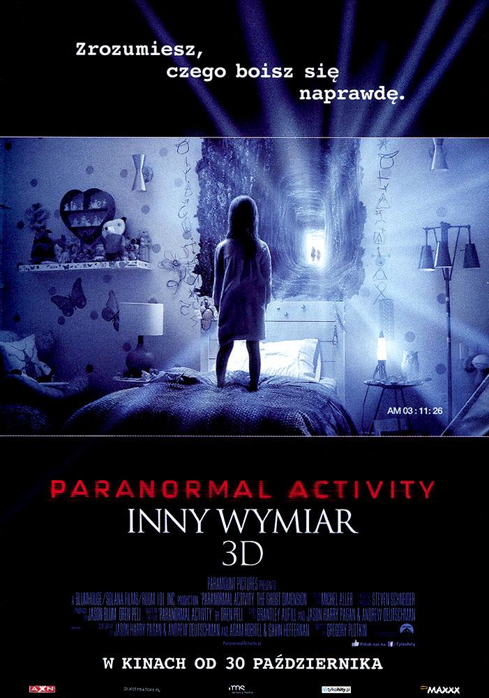 Ulotka filmu 'Paranormal Activity: Inny Wymiar (przód)'