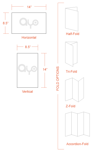 AIYOPRINT - 8.5x11 Brochure Dimensions and Printing Specs