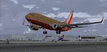 """The Herbert Kelleher"" lifting off runway 36R at Seattle"