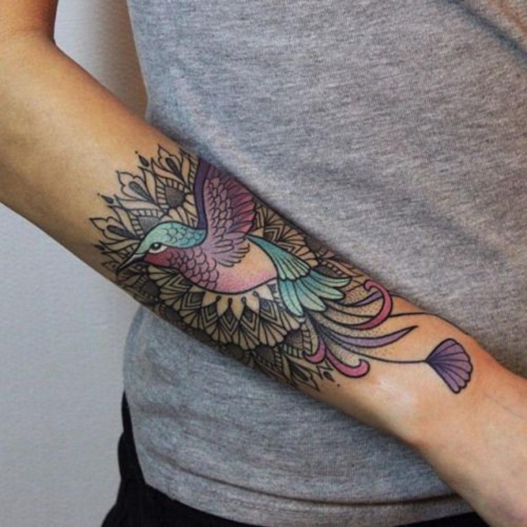 bela_ornamentada_pssaro_de_pulso_banda_tatuagem