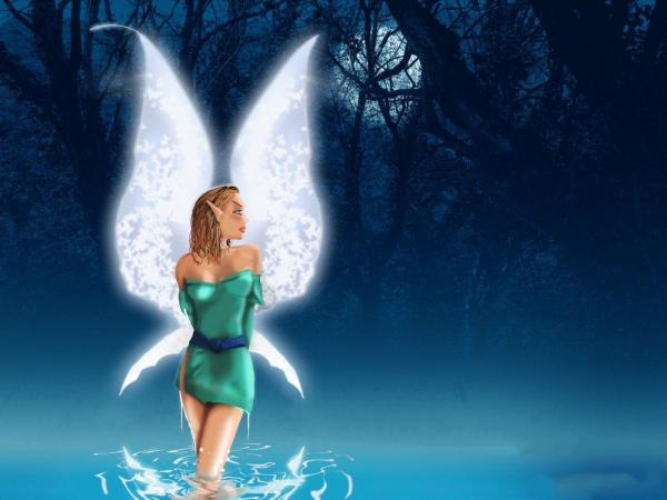 Fairy On Water Of Lake, Fairies Girls 2