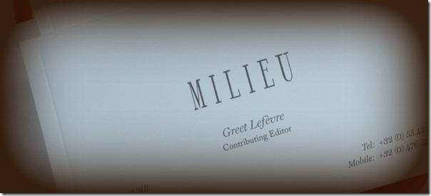 MILIEU BUSINESS CARD