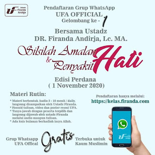 Yuk, Gabung Grup WhatsApp resmi Ustadz Firanda