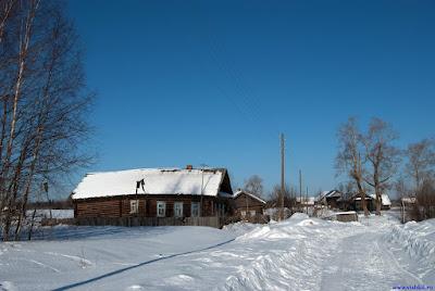 Вятская деревня Мишотино зимой