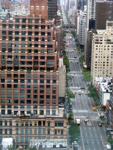Blick auf die 1st Avenue von der deutschen UN-Vertretung in New York, USA