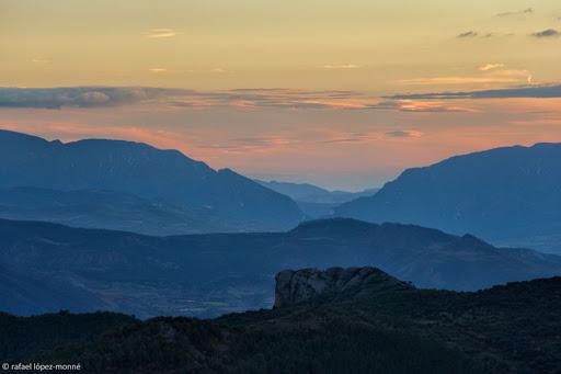 Vista del Pallars Jussà des de la serra de Peracalç.Pirineus.Pallars Sobirà, Lleida,