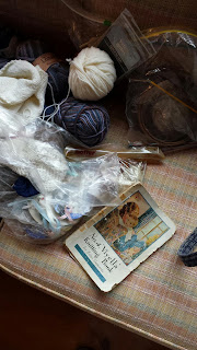 Teta's knitting basket contents