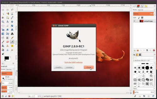 GIMP 2.8 RC1 su Ubuntu da PPA