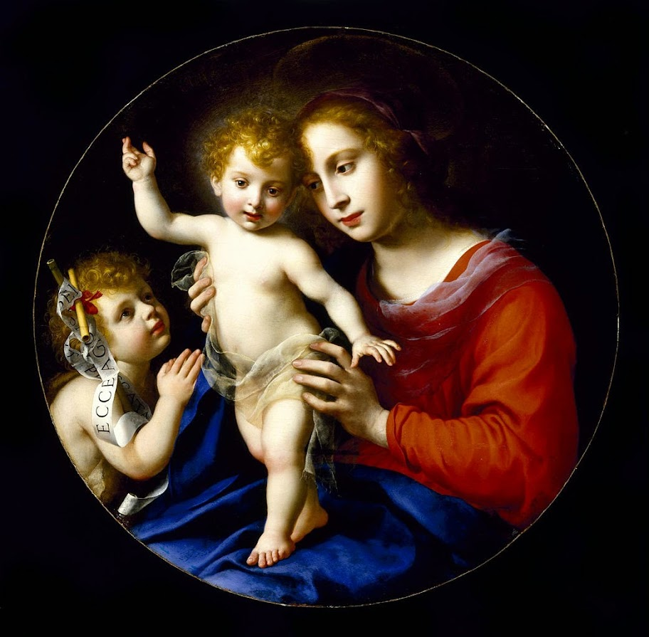 Carlo Dolci - Virgin and Child with the Infant Saint John the Baptist - Google Art Project