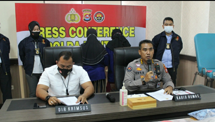 Polda Banten Ekspose Keberhasilan Ungkap Kasus Praktek Aborsi di Pandeglang