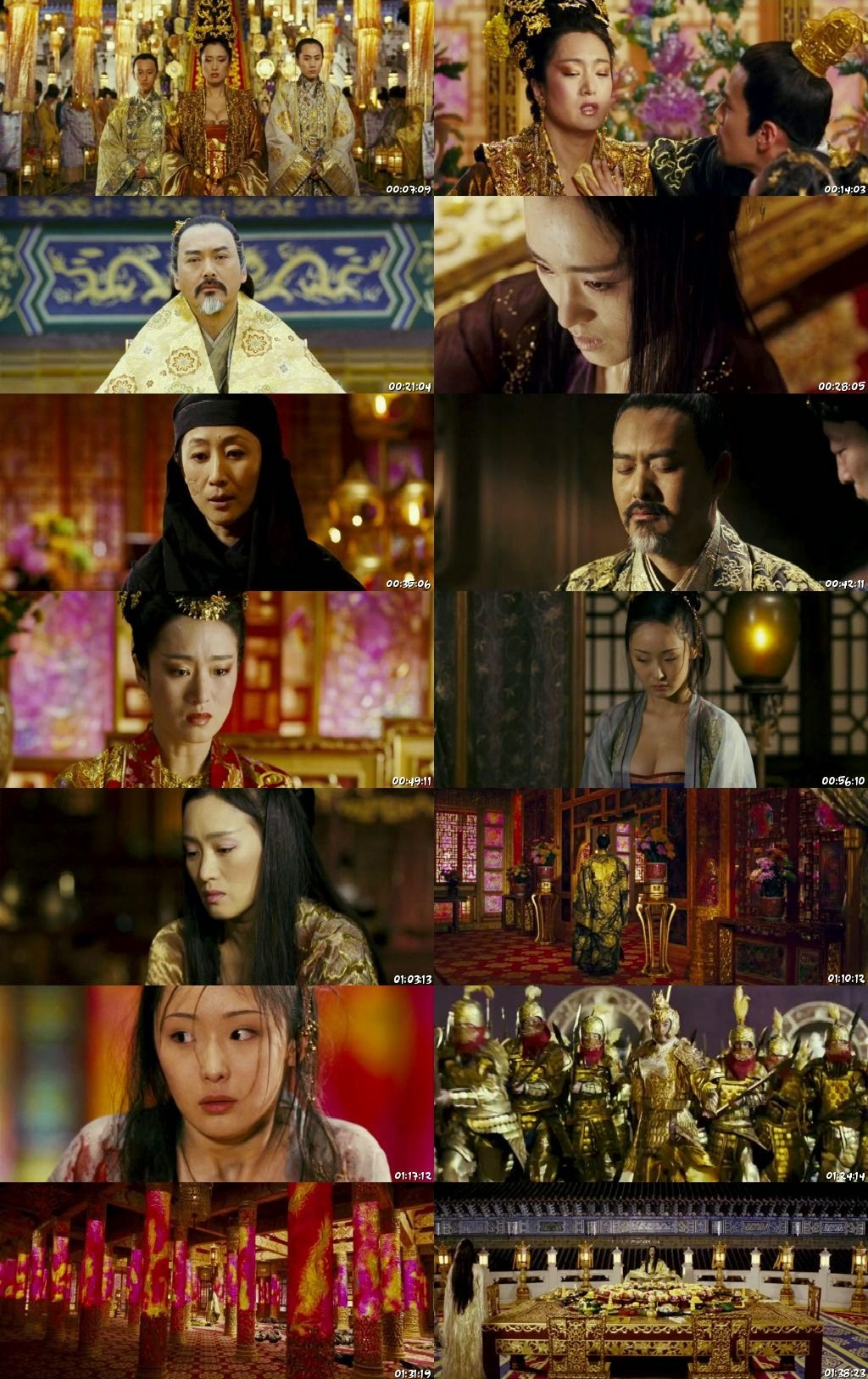 Screen Shot Of Curse of the Golden Flower 2006 300MB Full Movie Hindi Dubbed Free Download 480P BRRip Small Size PC Movie