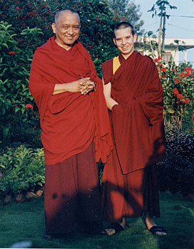 Osel and Lama Zopa Rinpoche