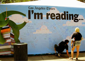 LA Times Festival of Books reading wall