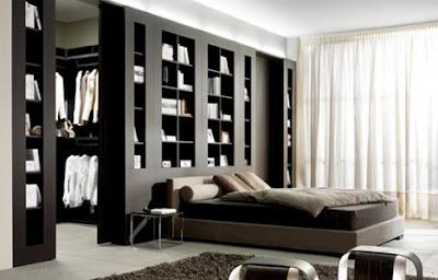 bedroom wall Partisi Sebagai Tambahan Ruang Penyimpanan