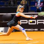 STUTTGART, GERMANY - APRIL 16 : Katharina Hobgarski in action at the 2016 Porsche Tennis Grand Prix