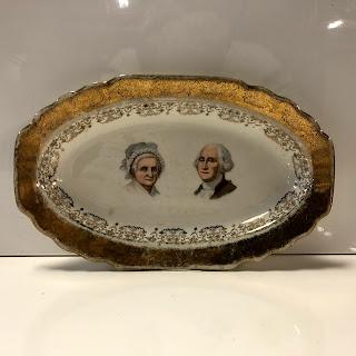Capitol Souvenir Co. George & Martha Washington Plate