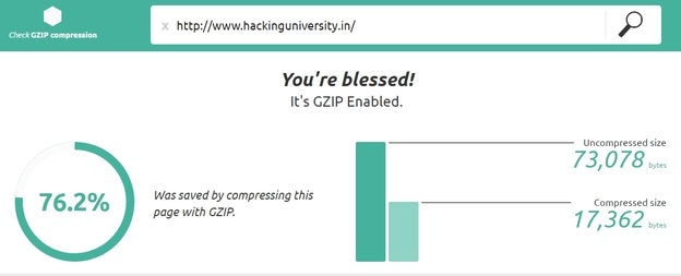 gzip compression status